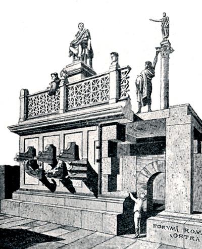 Rostra no Império Romano (Reprodução)